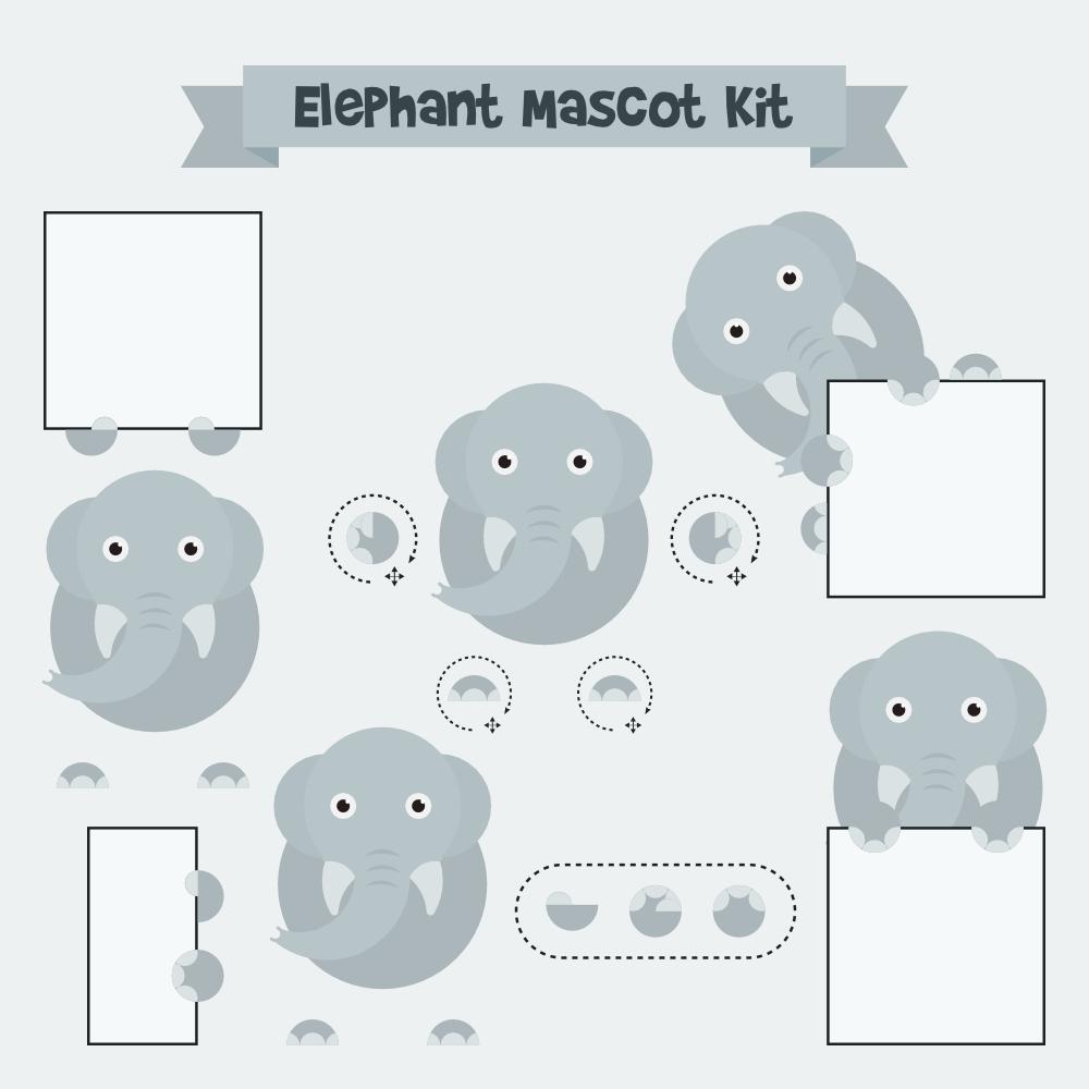Elephant mascot Photoshop brush