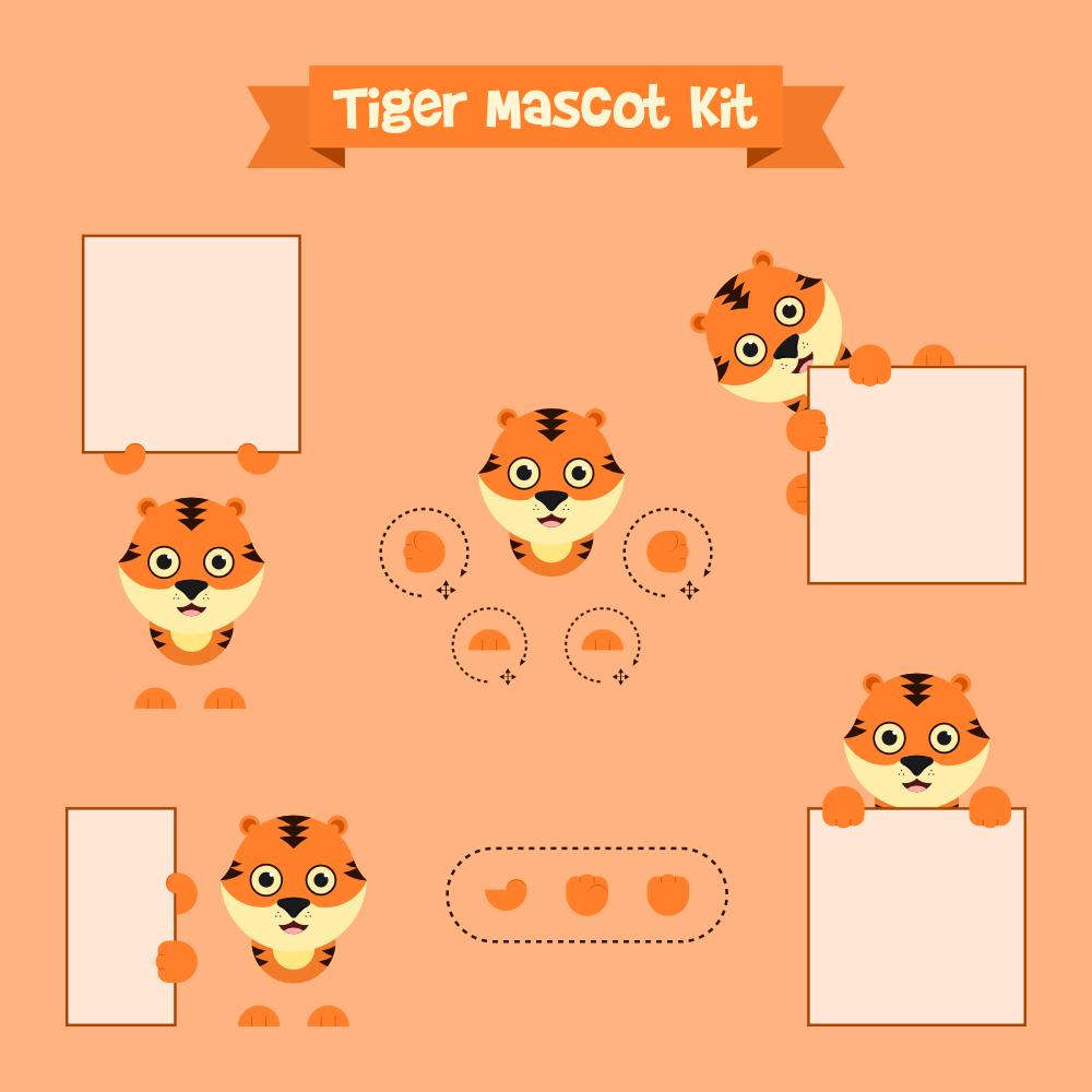 Tiger mascot Photoshop brush