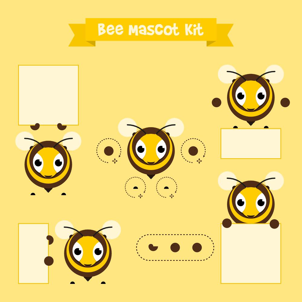 Bee mascot Photoshop brush
