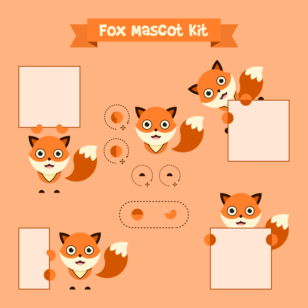 Fox mascot Photoshop brush