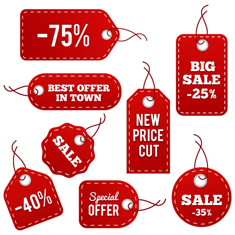 Red Leather Price Tags Photoshop brush