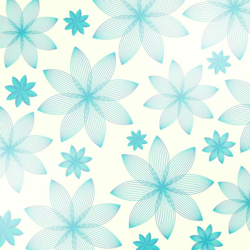 Floral pattern Photoshop brush