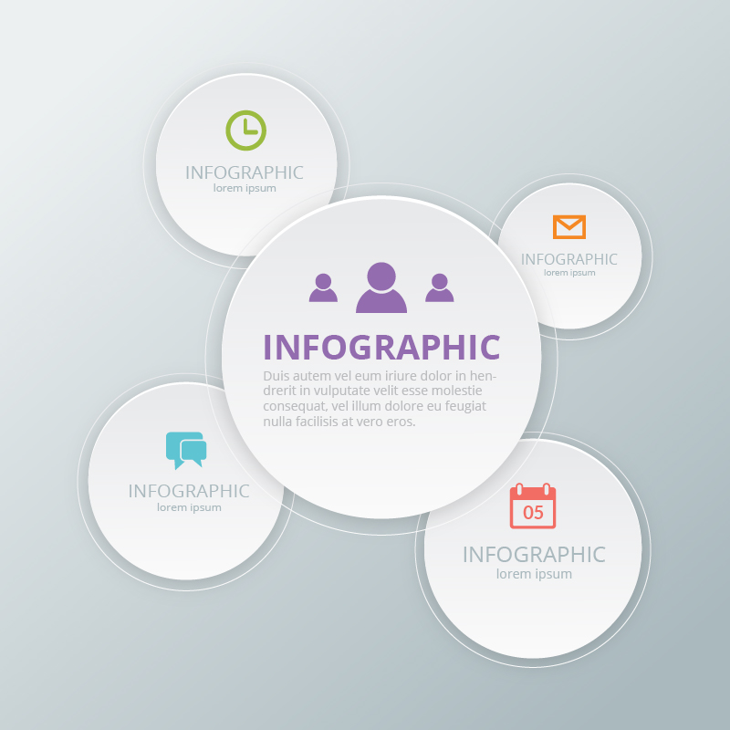 Social Media Infographic Template Photoshop brush