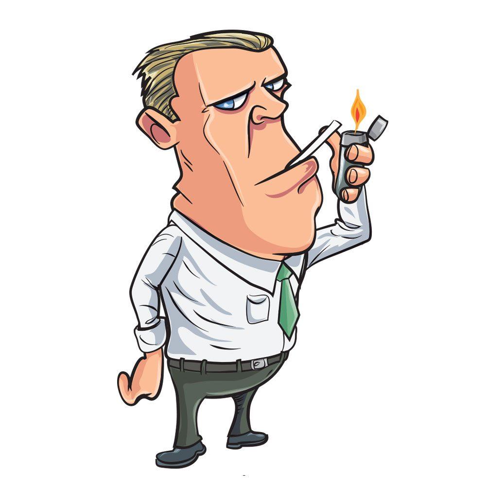 Man smoking Photoshop brush