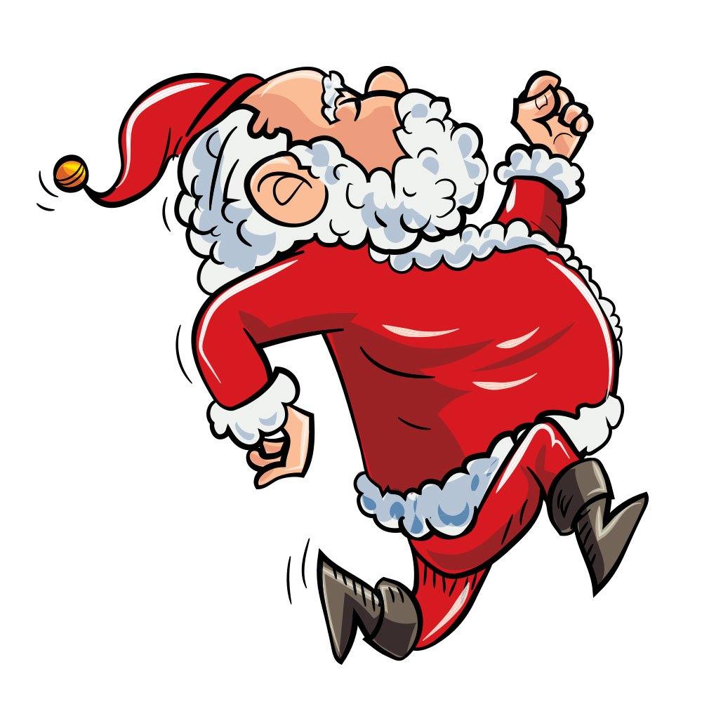 Running Santa Photoshop brush