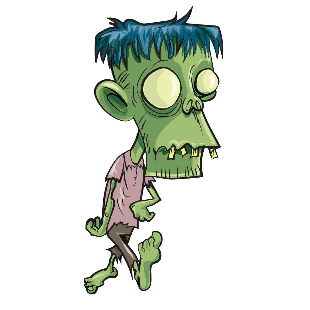 Zombie with big head Photoshop brush