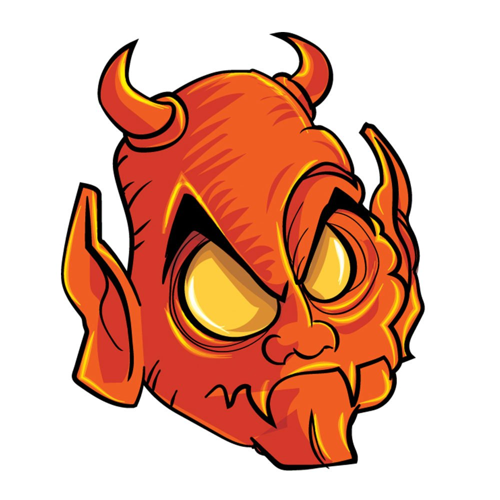 Demon head Photoshop brush