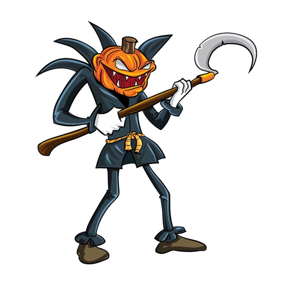 Angry pumpkin man Photoshop brush