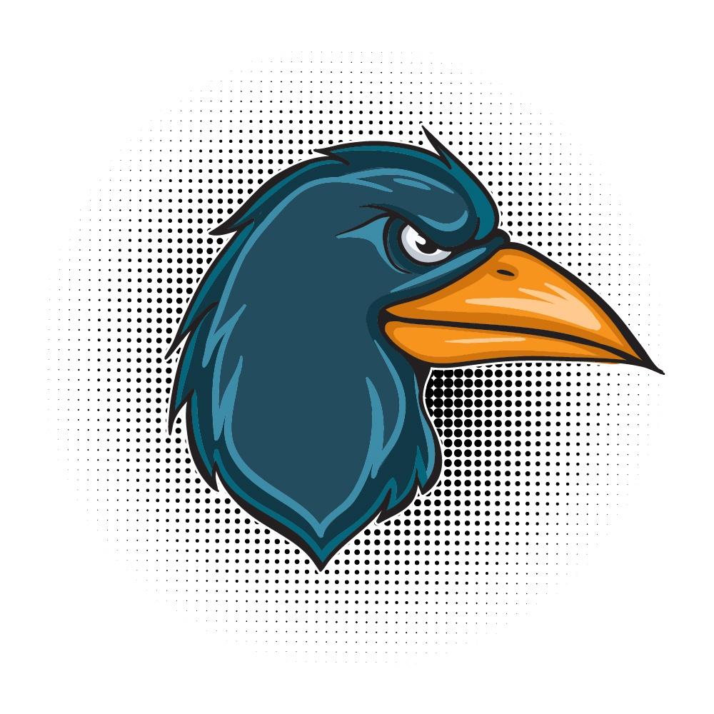 Cartoon vector raven Photoshop brush