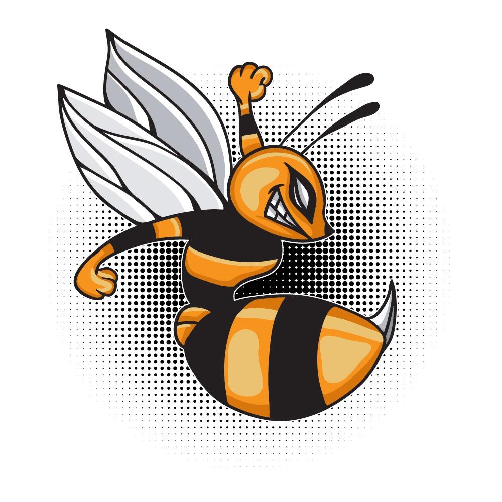Cartoon vector bee Photoshop brush