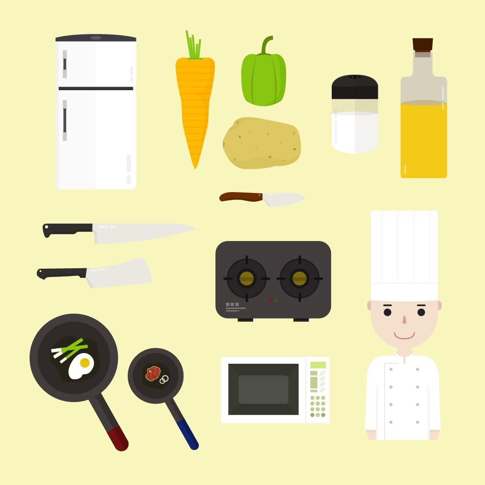 Cooking icons  Photoshop brush