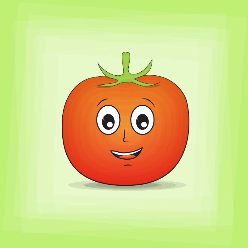 Tomato Cartoon Character Photoshop brush