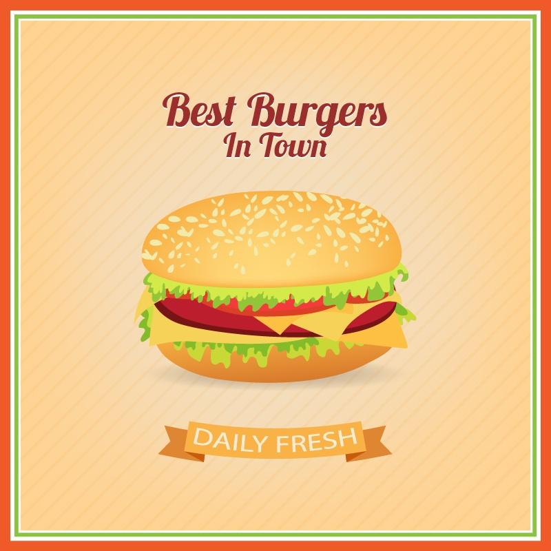 Burger Illustration Photoshop brush