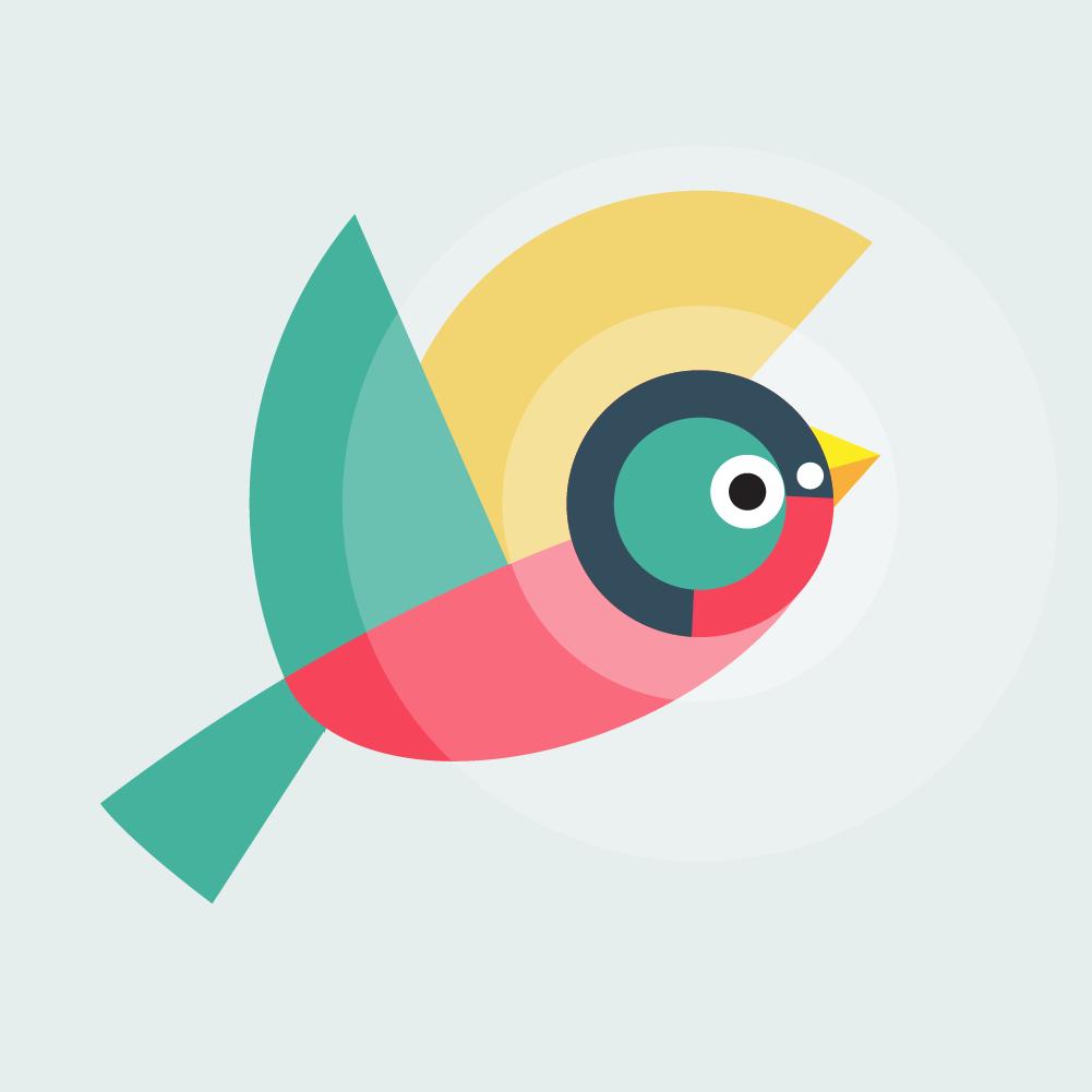 Geometrically stylized Bird Photoshop brush