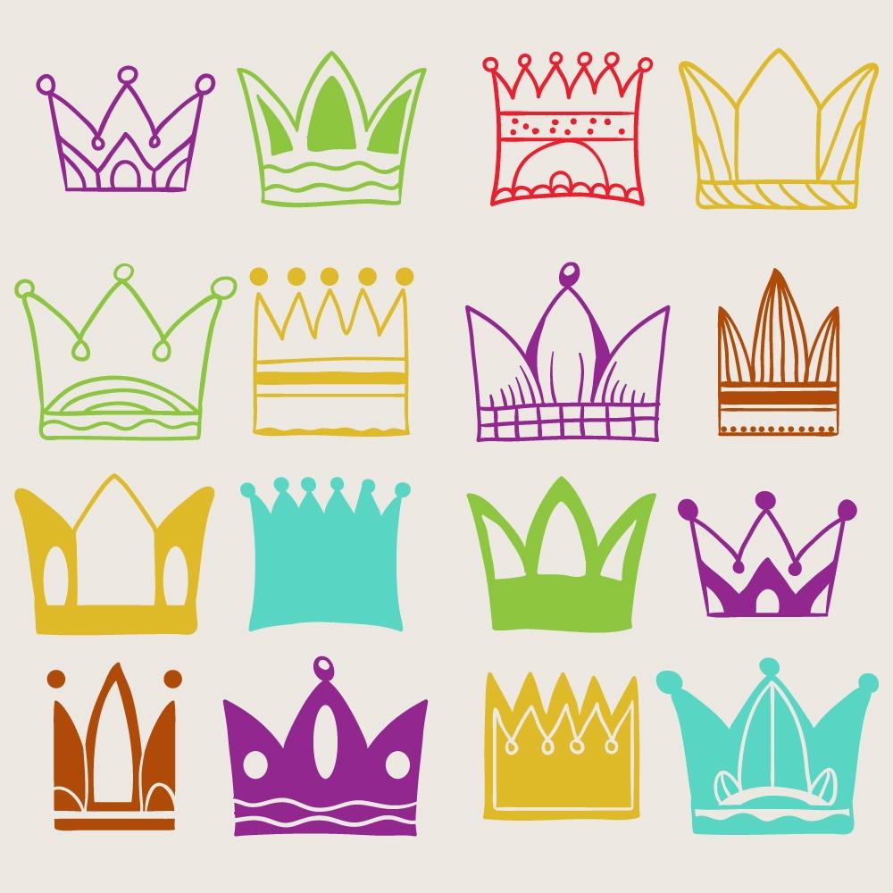 Crown vector set  Photoshop brush