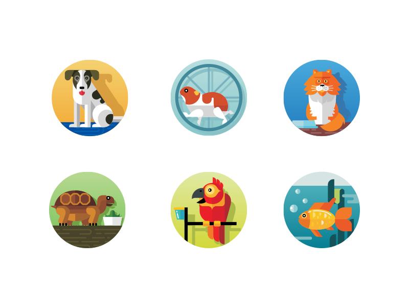 Pets icons Photoshop brush