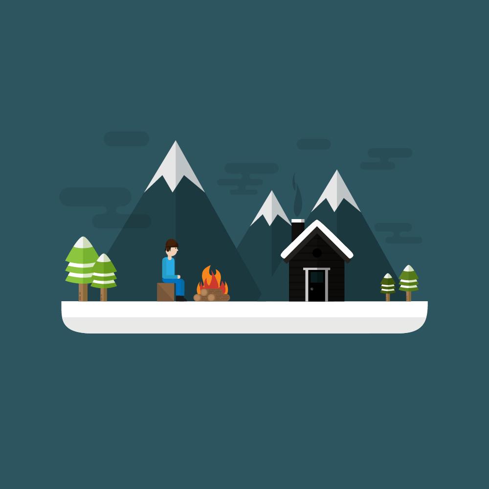 Winter Scenery  Photoshop brush