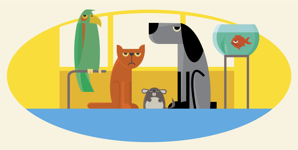 Characters farm pets vector illustration for design Photoshop brush
