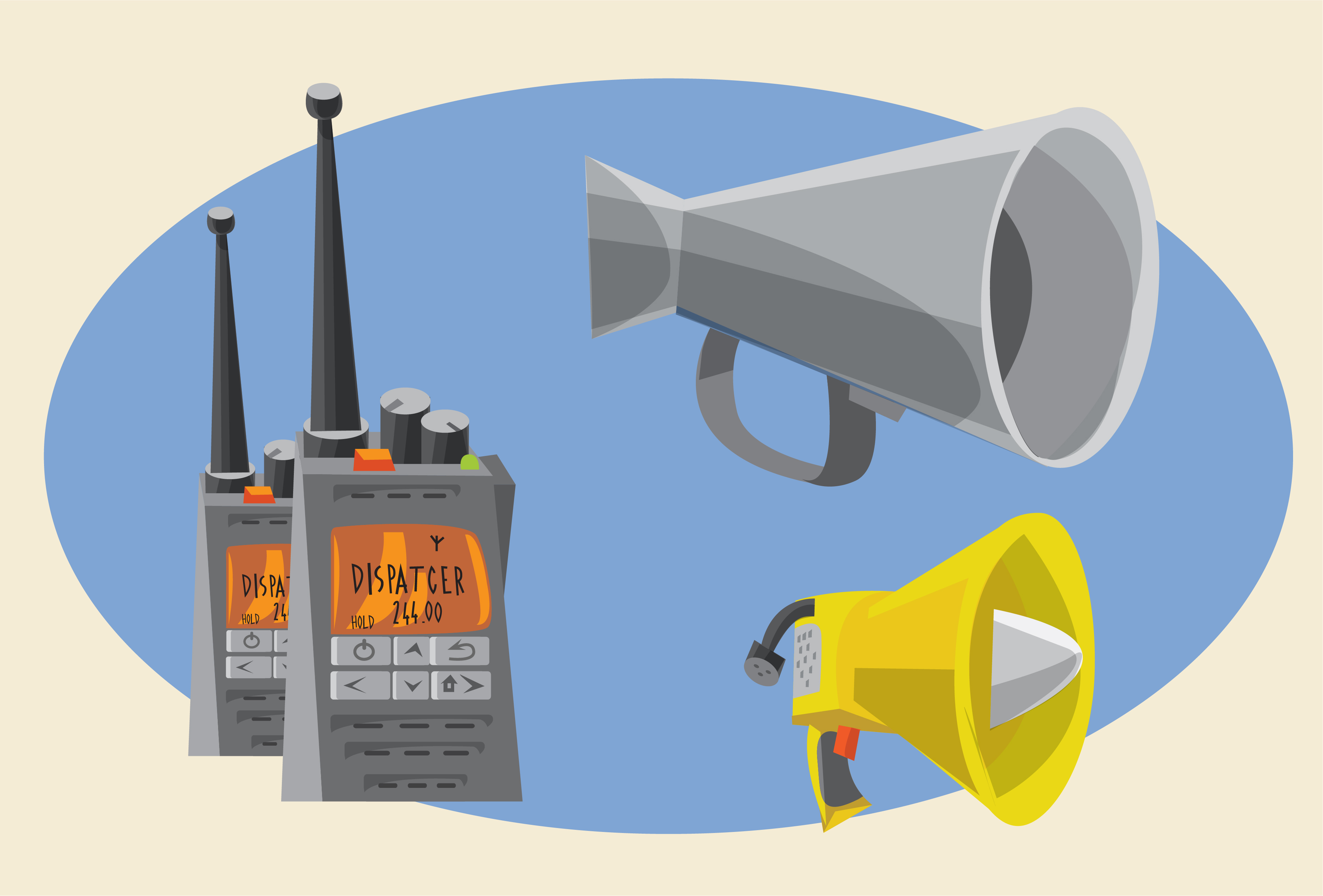 Communication objects for design. Vector illustrations Photoshop brush
