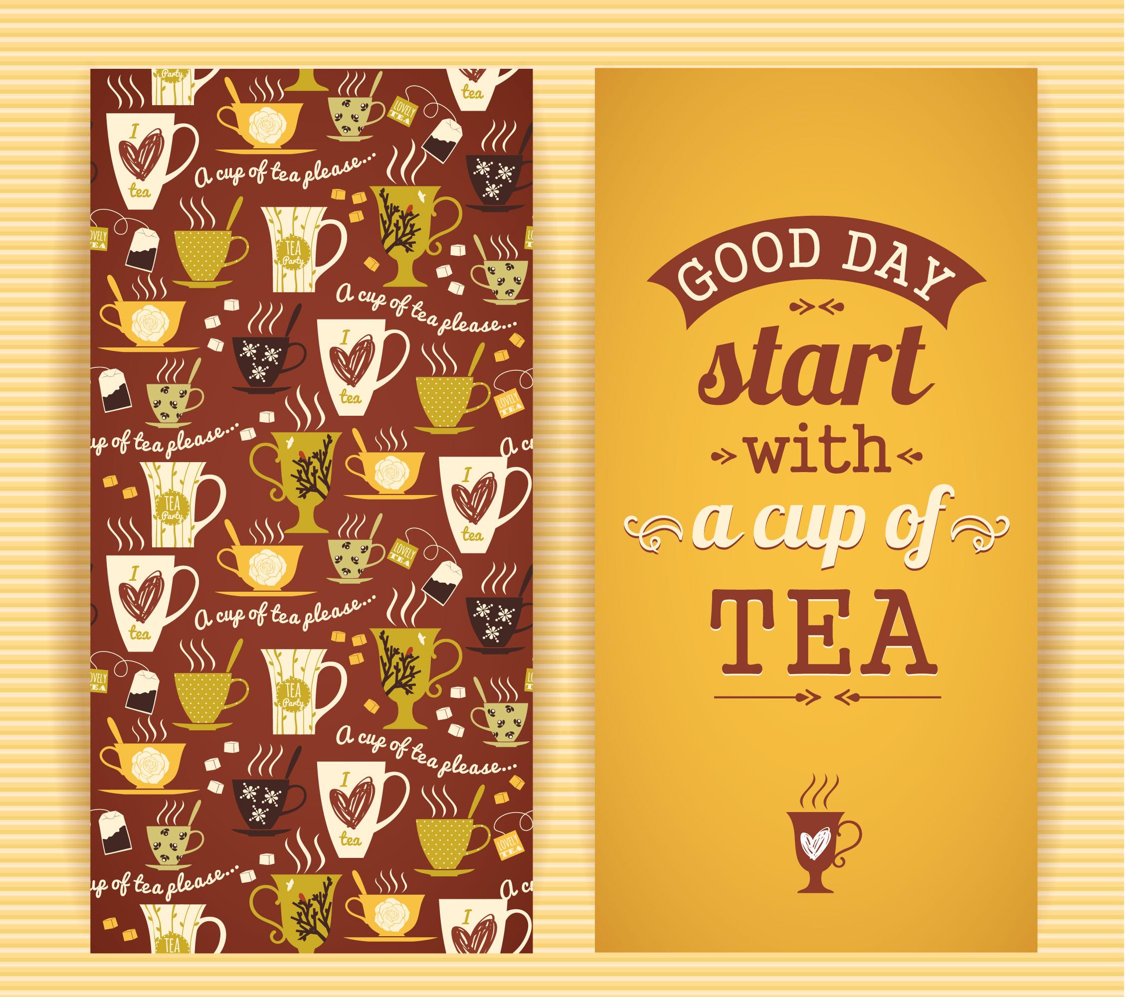 Tea concept design.  Photoshop brush