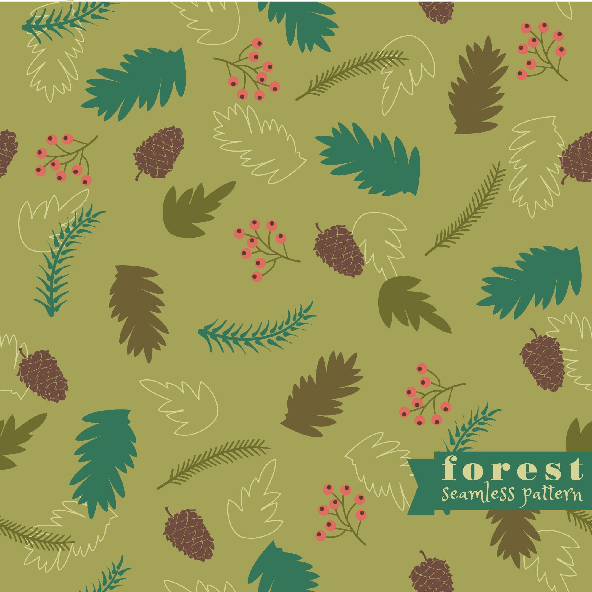 Forest seamless pattern Photoshop brush