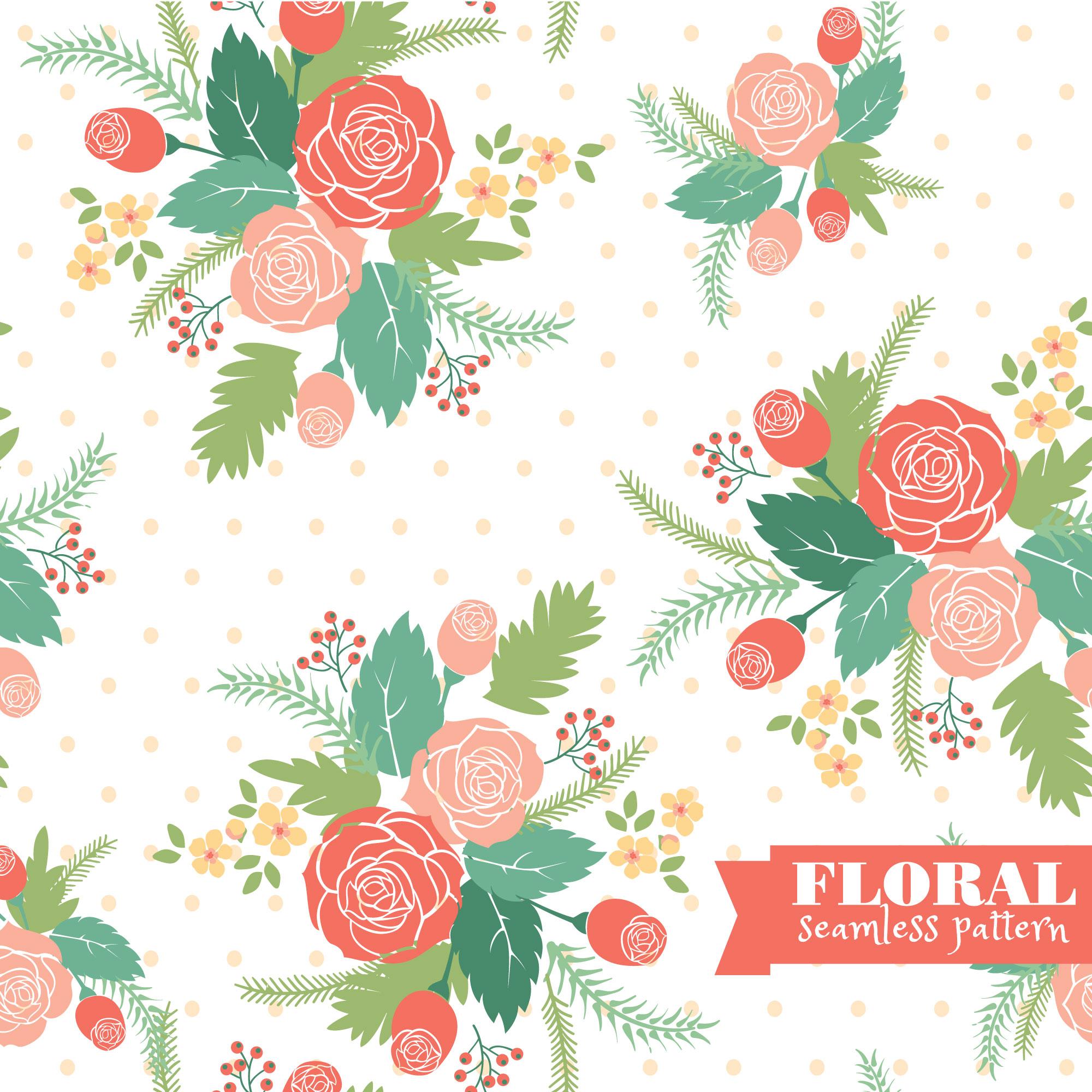 Seamless floral pattern. Photoshop brush