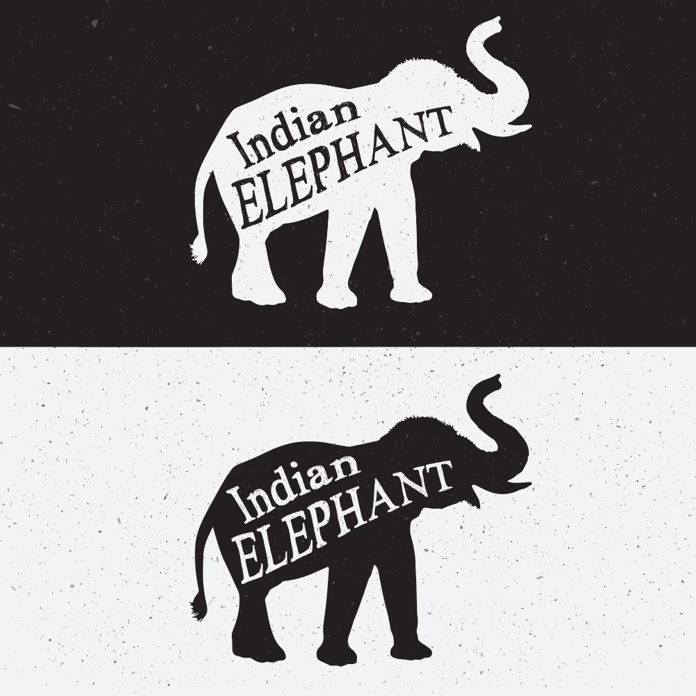 Elephant Silhouette Photoshop brush