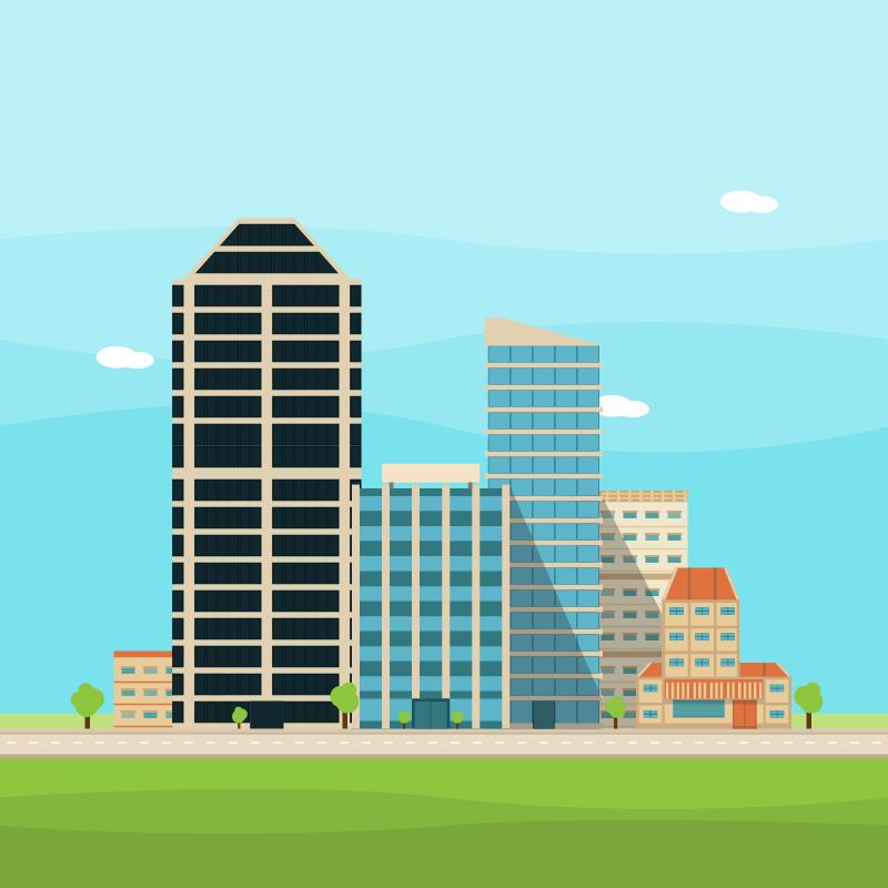 Vector City Illustration Photoshop brush