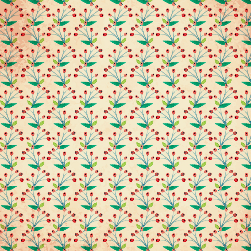 Watercolor vector pattern with flowers Photoshop brush
