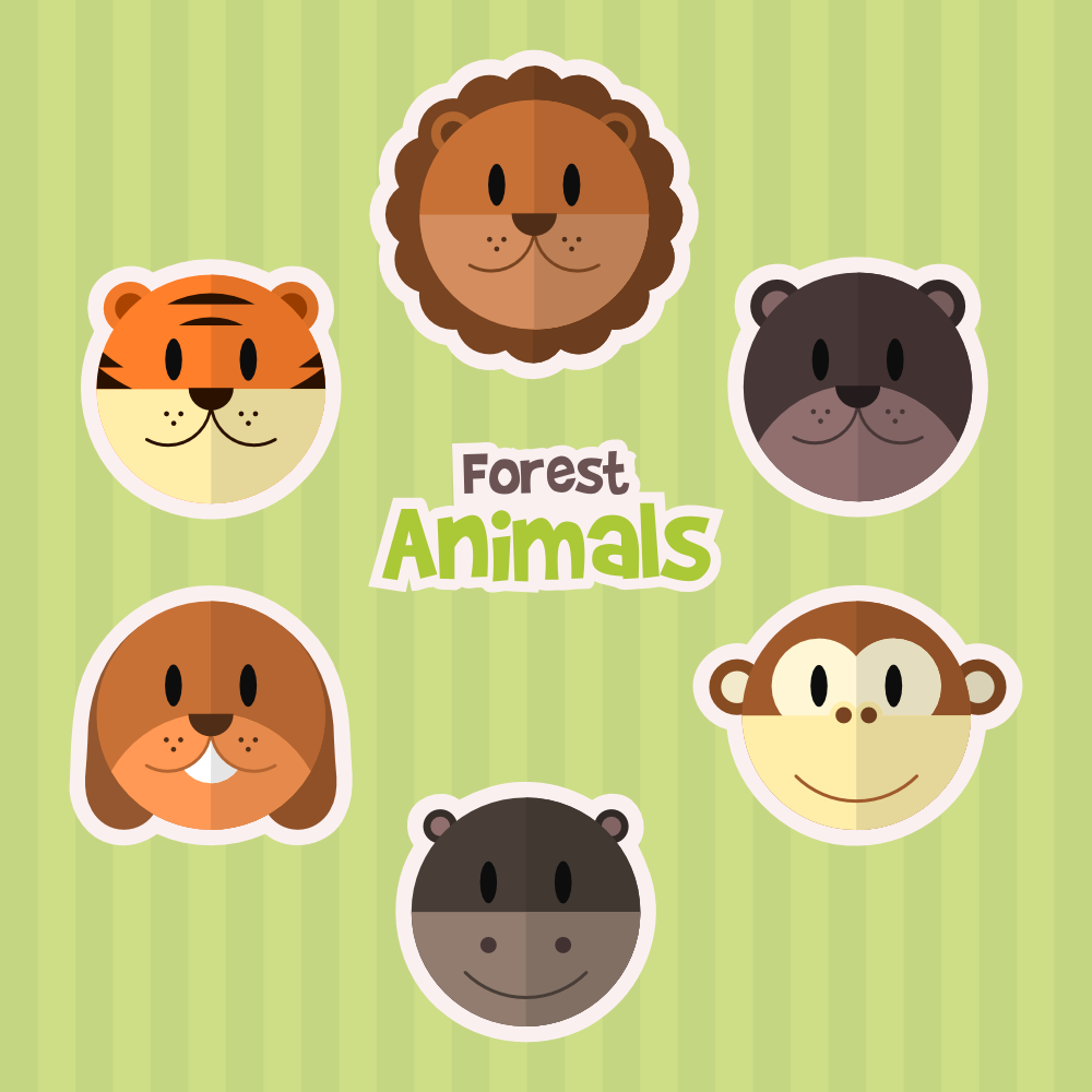 Forest Animals Photoshop brush