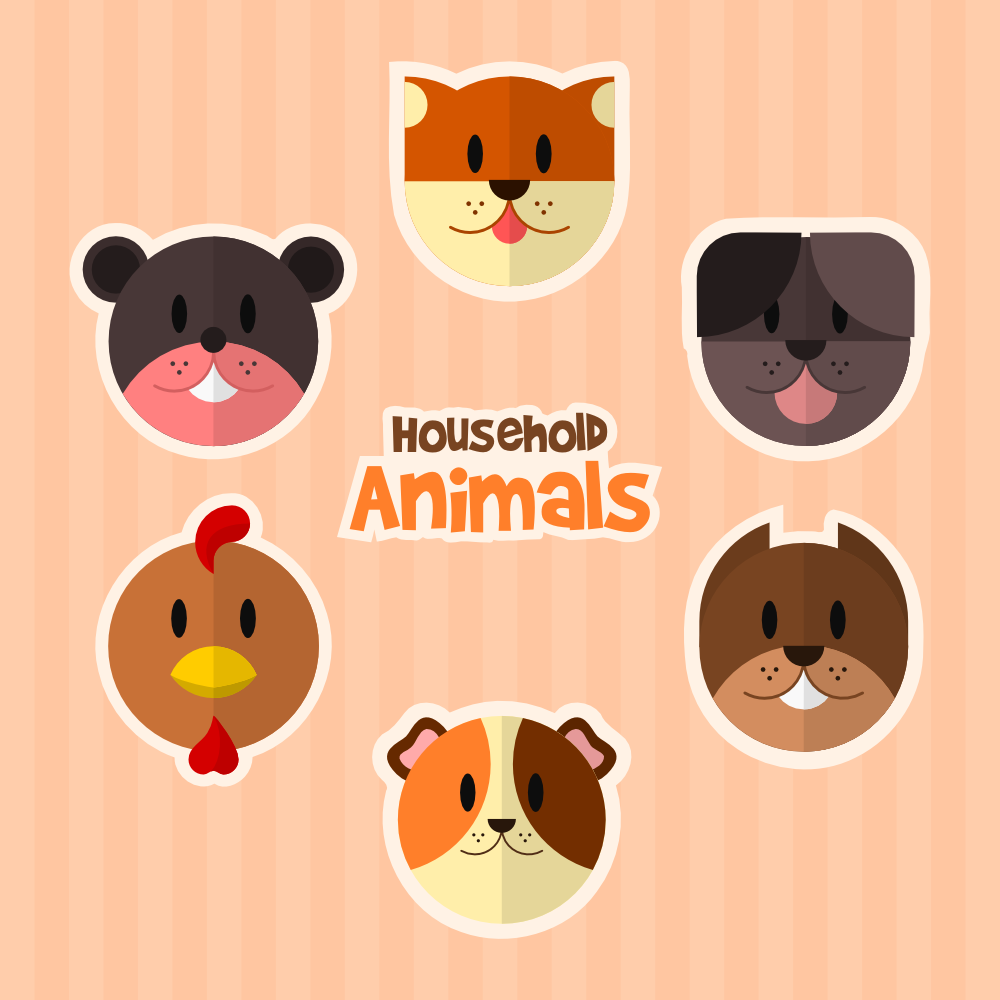 Household Animals Photoshop brush