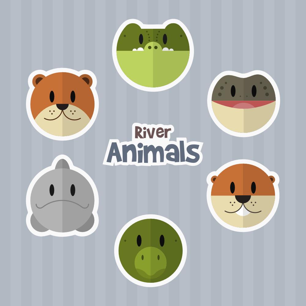 River Animals Photoshop brush