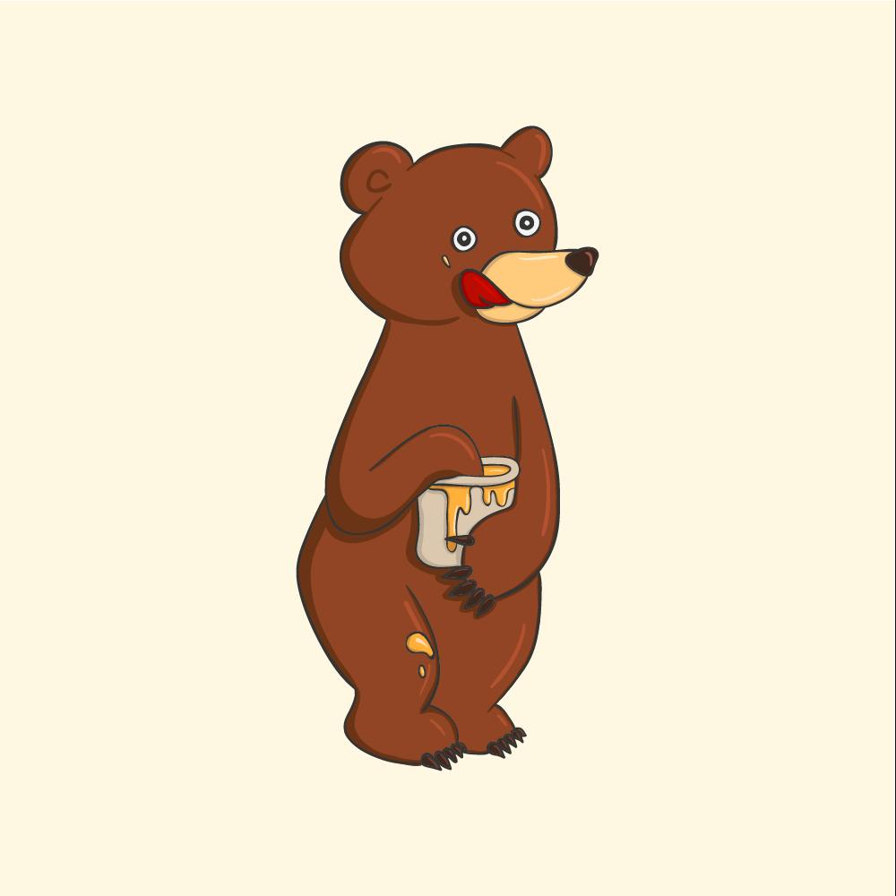 Honey Bear Photoshop brush
