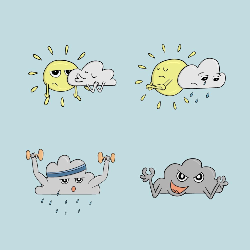 Weather Comic Icons Photoshop brush