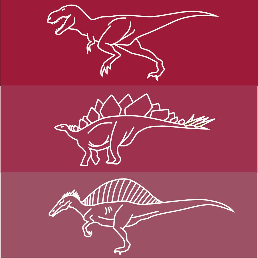Dinosaur line drawing icons Photoshop brush