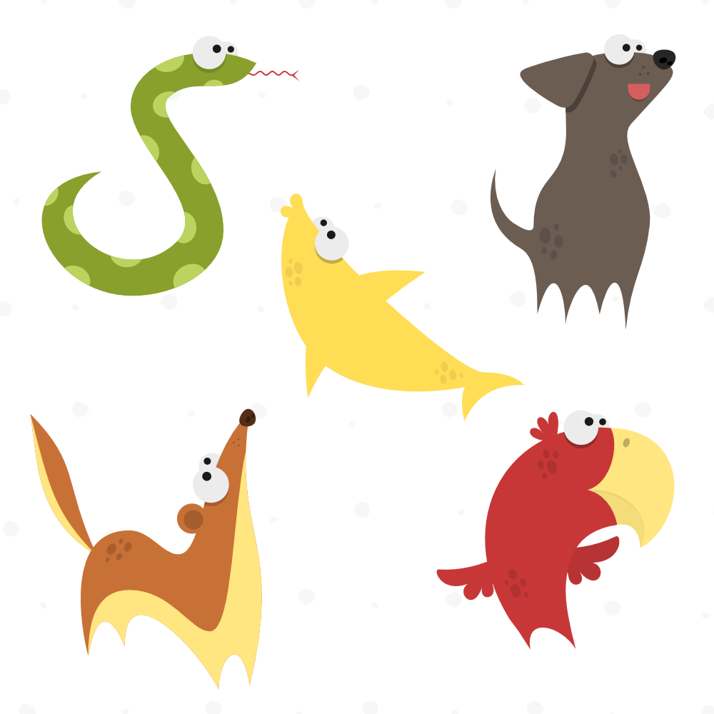 Cute Animals Vector Set 3 Photoshop brush