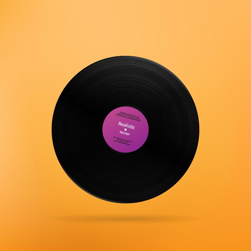 Realistic Vinyl Record Photoshop brush