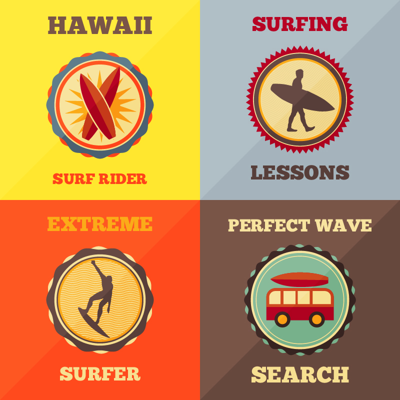 Surfing Icon Set Photoshop brush