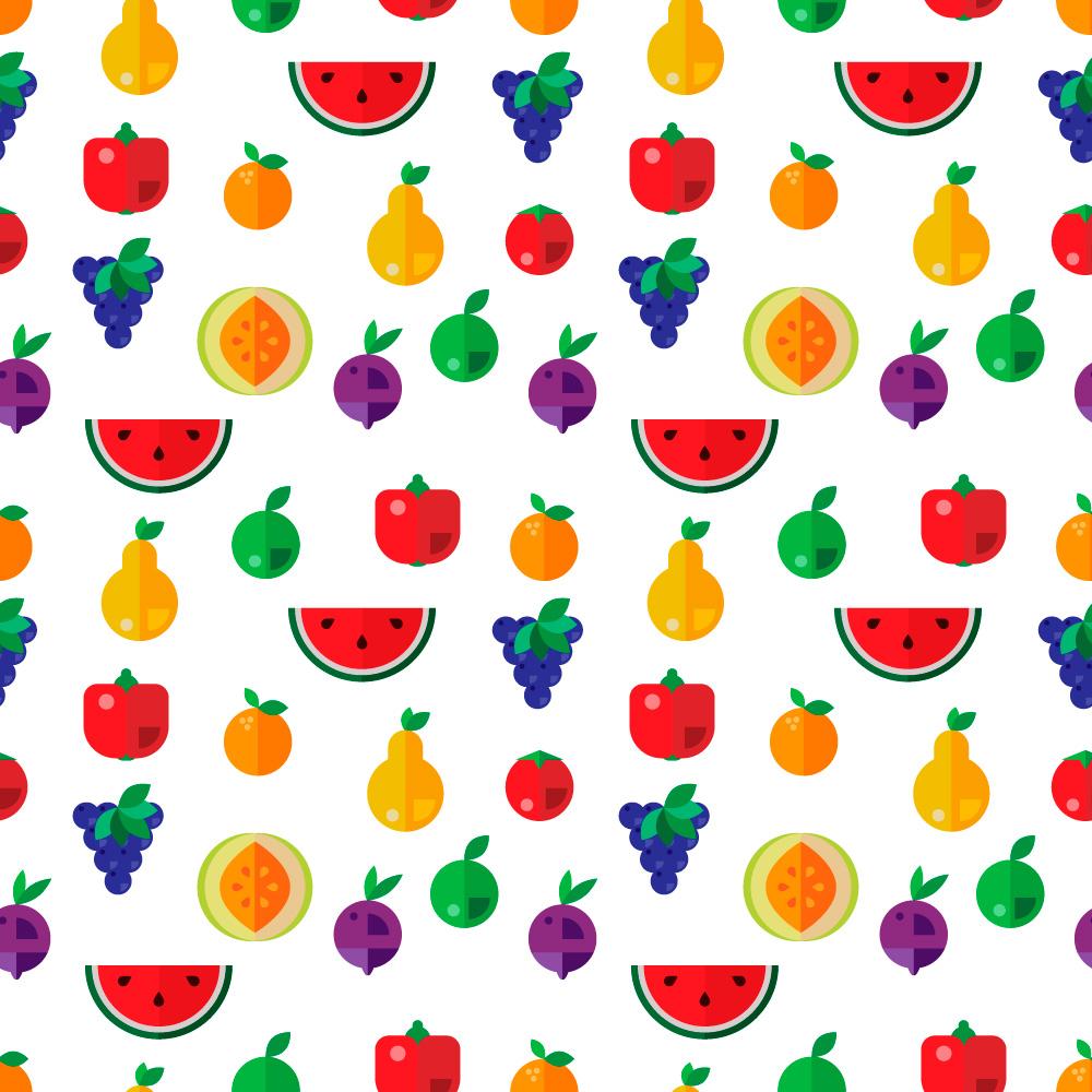 Food seamless pattern Photoshop brush