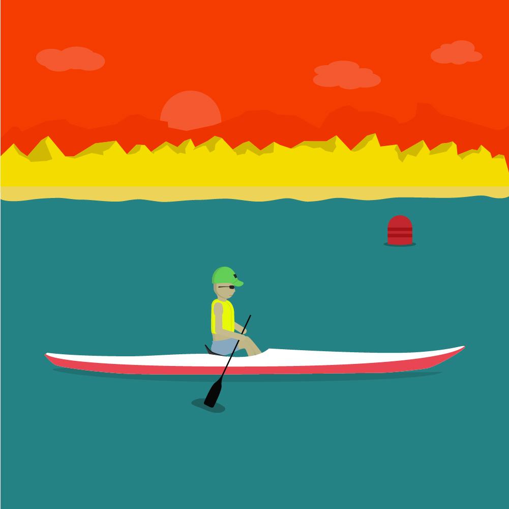 Kayak Illustration Photoshop brush