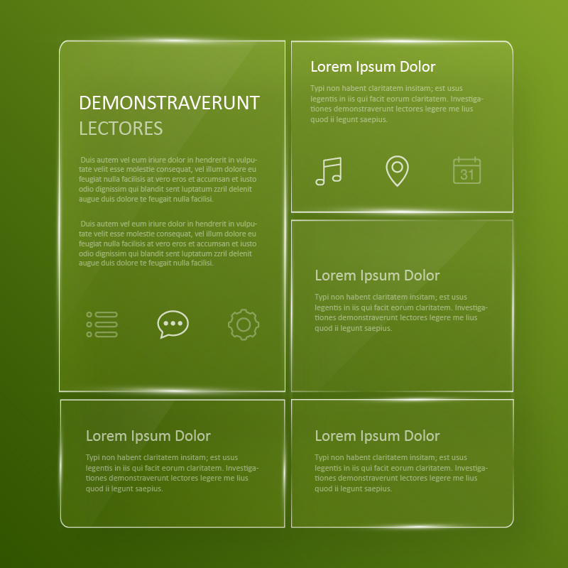 Transparent, glassy user interface  Photoshop brush