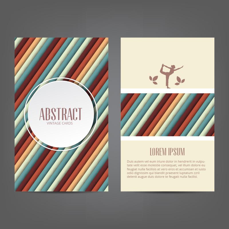 Abstract yoga card Photoshop brush