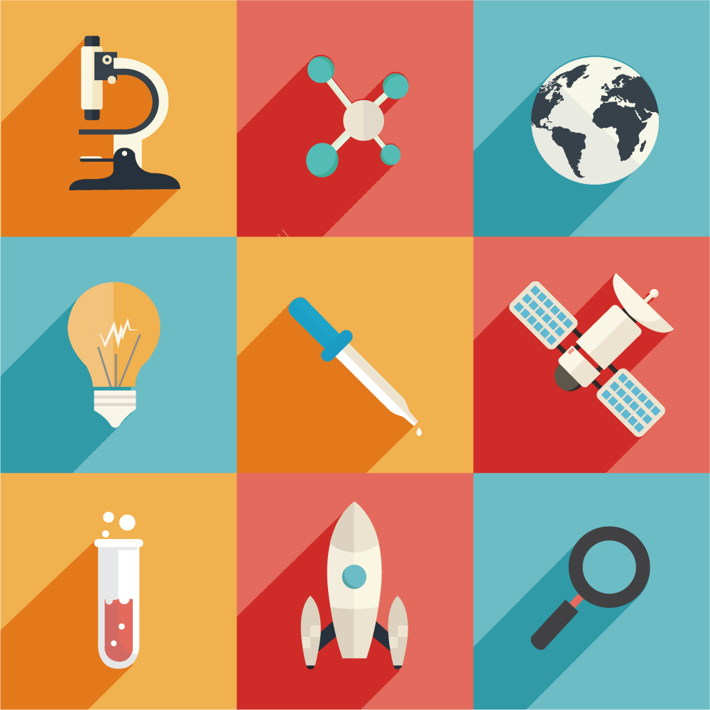 Science and Technology Icons Photoshop brush