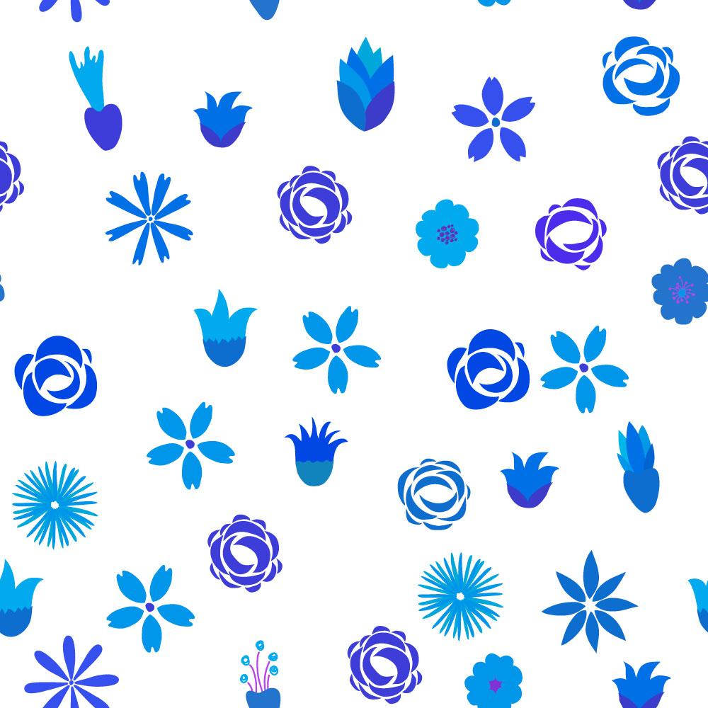Floral seamless pattern Photoshop brush