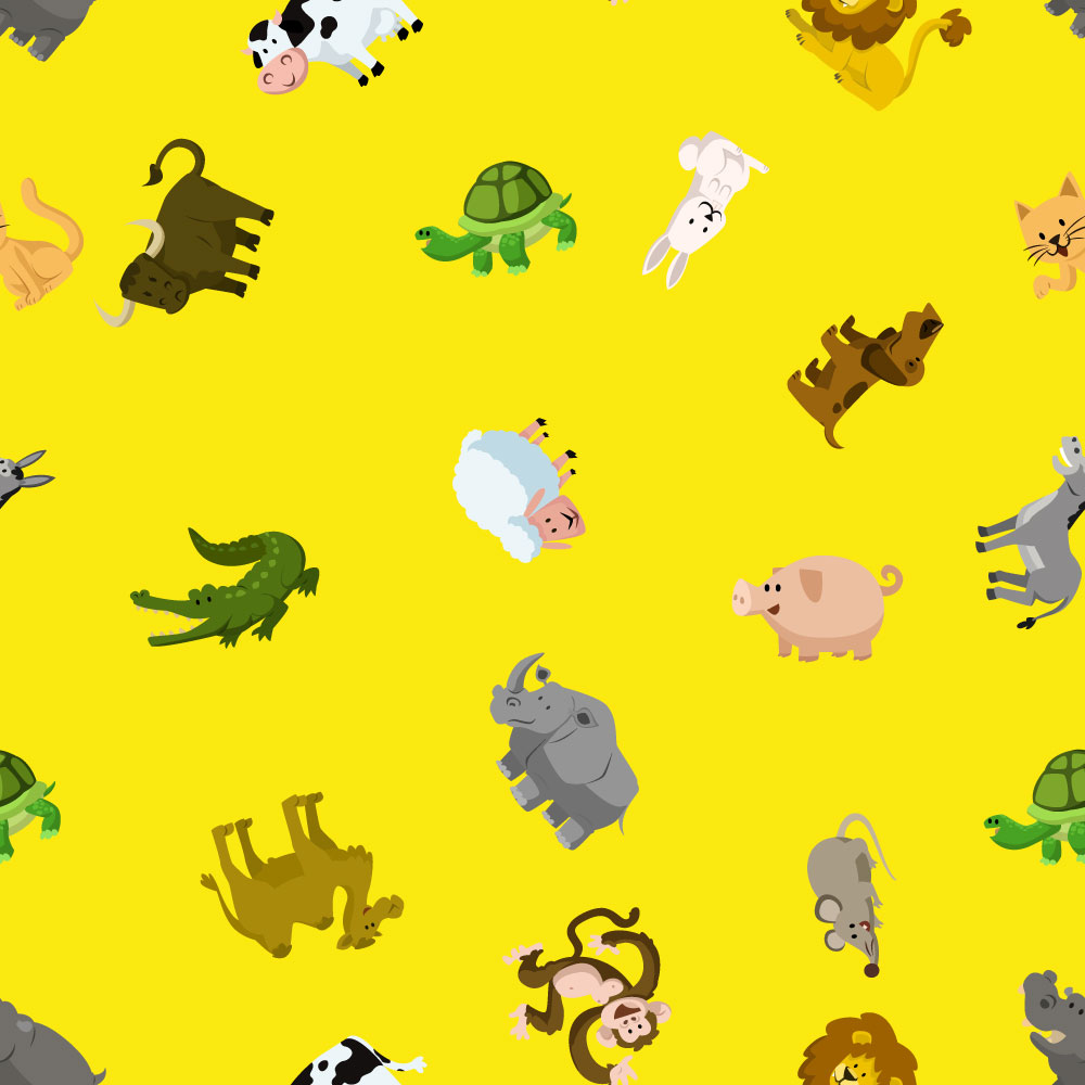 Pattern with animals Photoshop brush