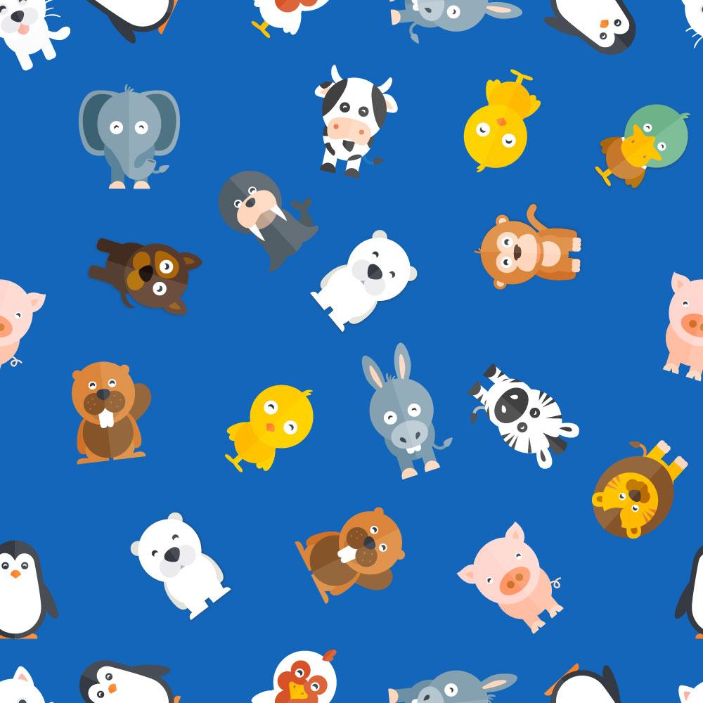 Pattern with baby animals Photoshop brush