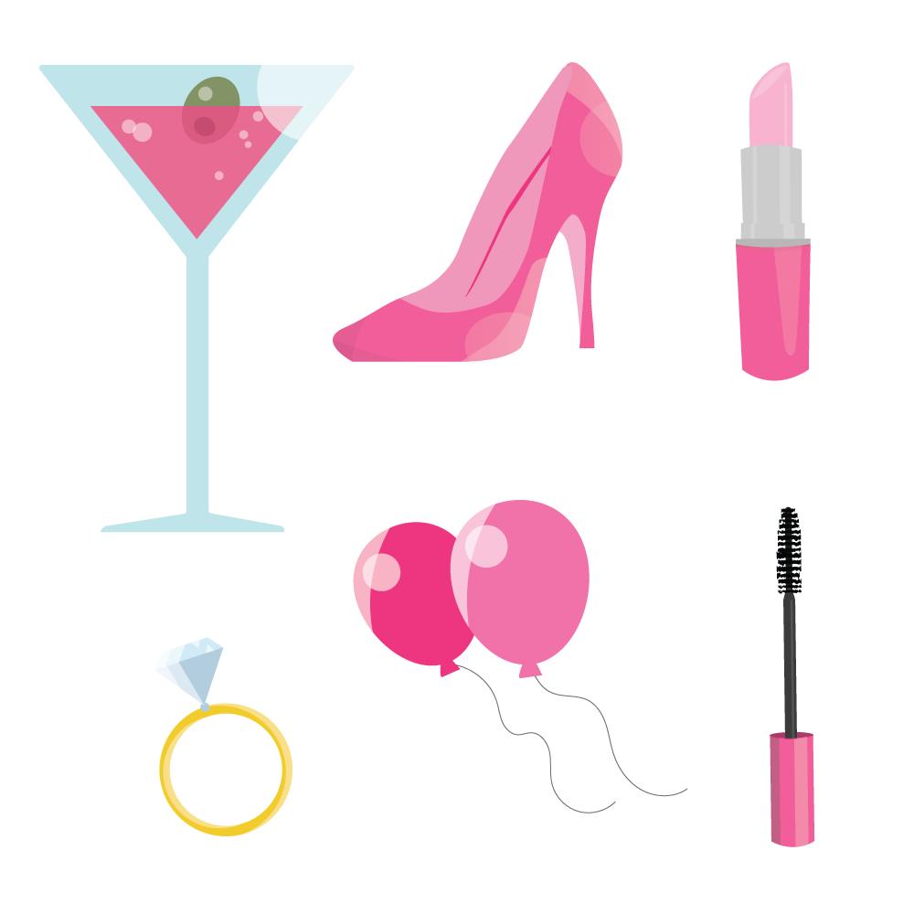 Pink Bachelorette Party Photoshop brush