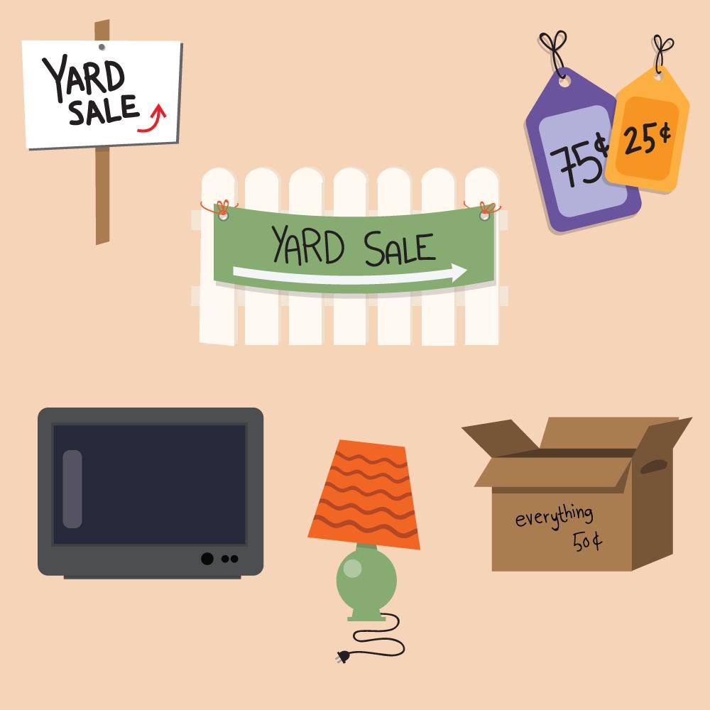 Yard Sale Vector Set Photoshop brush