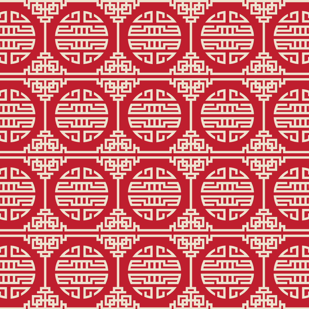 Asian Red, and White Pattern Photoshop brush