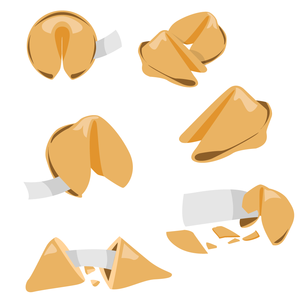 Fortune Cookie Vector Set Photoshop brush